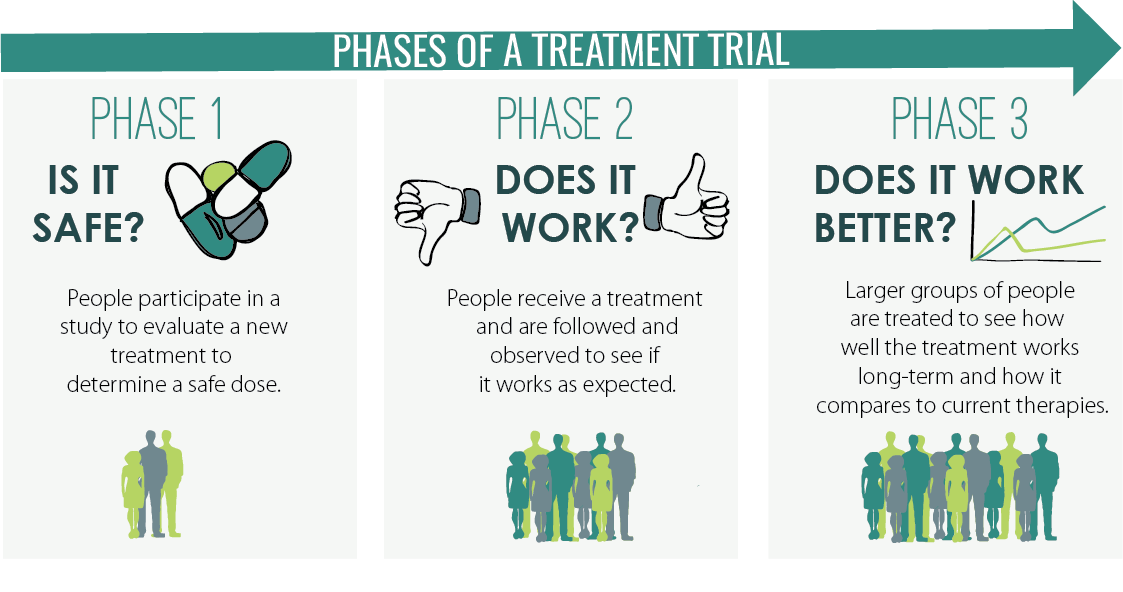 Phases of a treatement trial