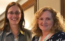 Janet Dancy and Julie Wells - last year's awards