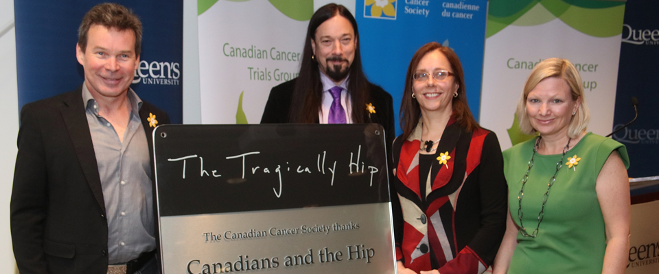 Thanks to the Tragically Hip for their support of brain cancer research